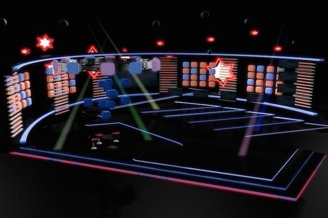 tv studio entertainment set 9 3d model max obj mtl 3ds fbx dxf dwg 1