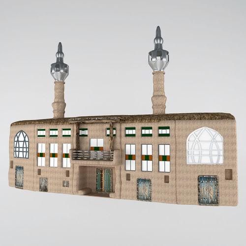 rural mosque - fantasy 3d model max fbx 1