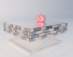 Mirror Table 3D asset