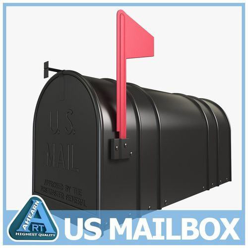 mailbox 3d model max obj mtl 3ds c4d lwo lw lws ma mb 1