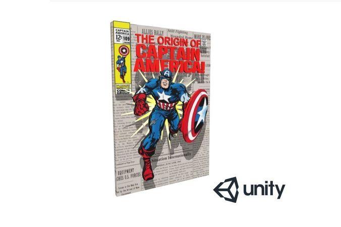 captain america 3d comic 3d model obj mtl fbx unitypackage prefab spp 1