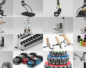 Gym and Indoor Sports Equipment 3D model