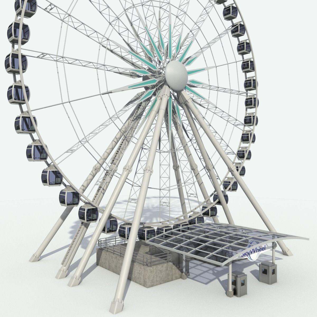 Sky Wheel With Platform Max | 3D model