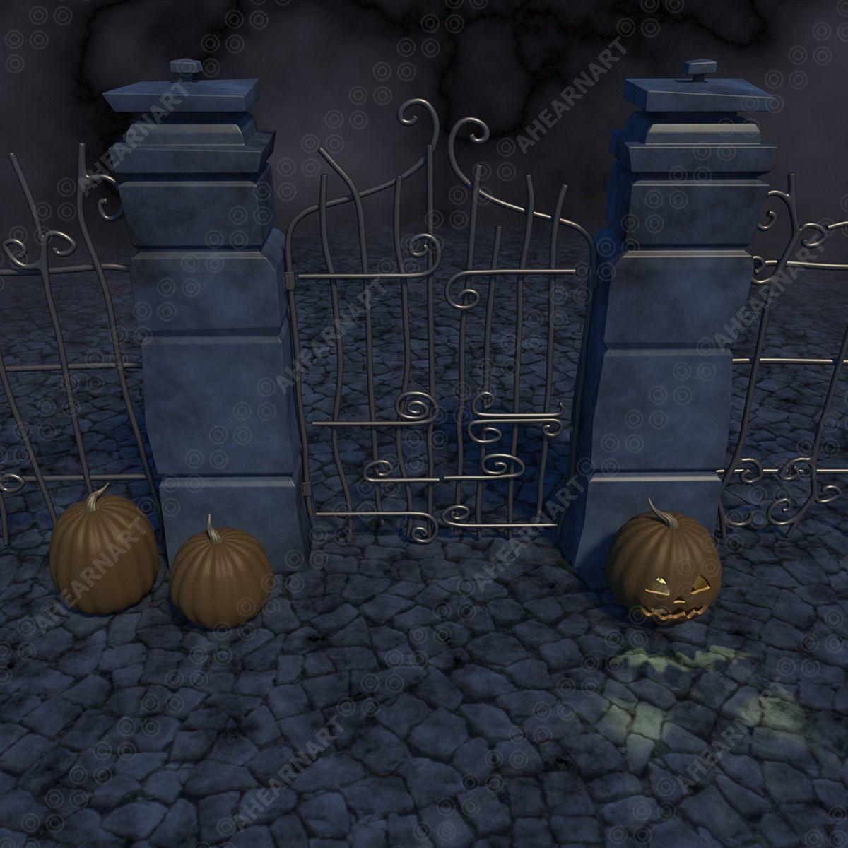 Nightmare Before Christmas Gate 3D model | CGTrader