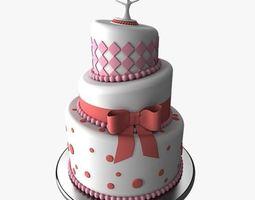 3D Wedding Cake 4