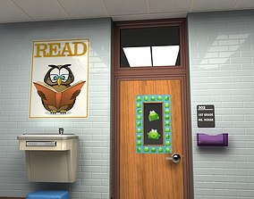 Classroom Doorway 3D model