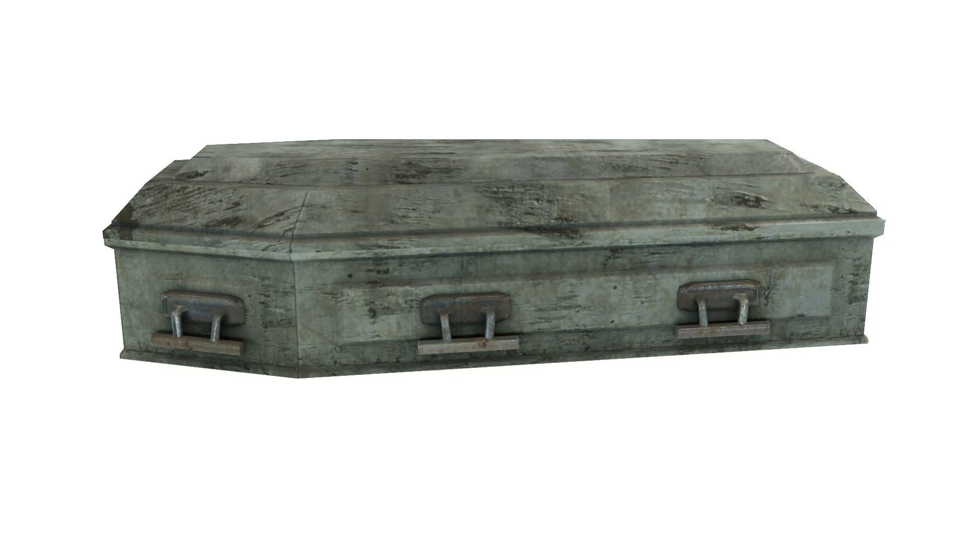 Low Poly Vintage Coffin With PBR Materials
