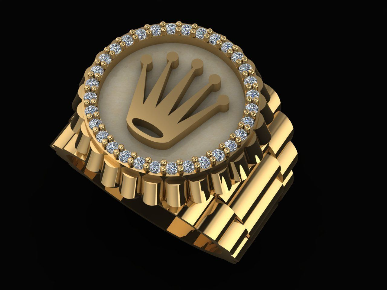 CROWN RING ROLEY custom made