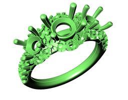 Engagement Ring-13 3D print model