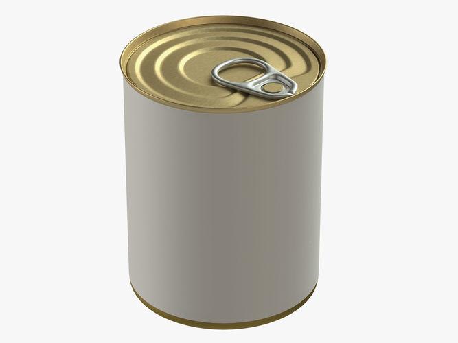 canned food round tin metal aluminium can 12 3d model max obj mtl mdl 1
