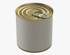 3D canned food round tin metal aluminium can 11