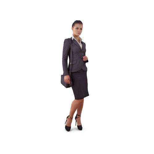 attentive business woman 3d model max obj mtl 3ds fbx stl tga 1