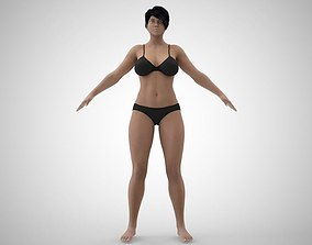 Brunette 3D model