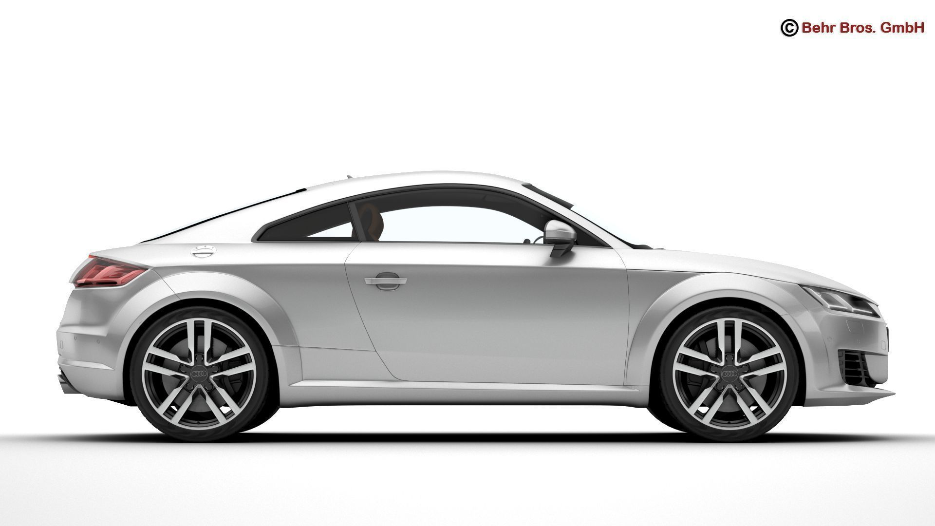 Audi TT Coupe 2015 3D  CGTrader