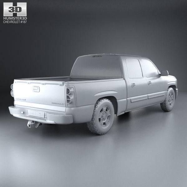 Chevrolet Silverado 1500 Crew Cab Short Bed 2002 | 3D model