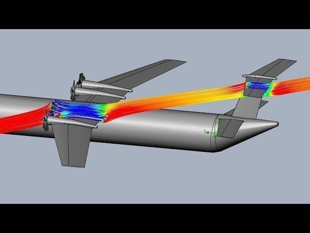 twin elevator tail airplane design 3d model obj mtl 3ds stl 1