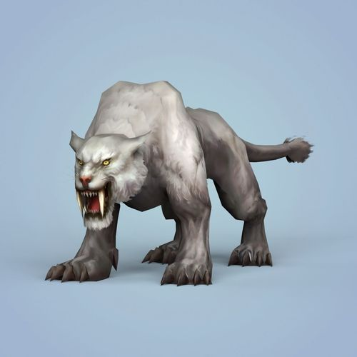 fantasy snow tiger 3d model low-poly max obj mtl fbx c4d ma mb 1