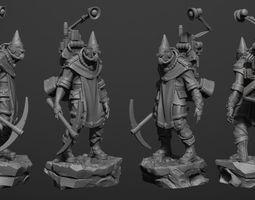 zbrush Miner- 3D Print Model