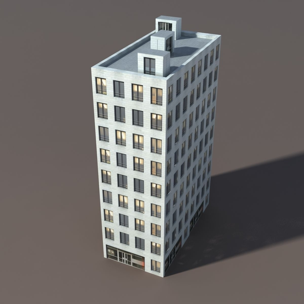 3d model residential house 3 low poly 3d model vr ar for 3d house builder online free