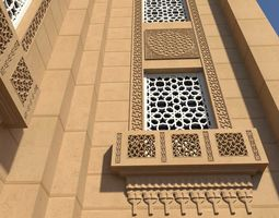 3D asset Mosque window