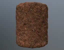 3D model PBR Scanned Mulch