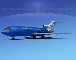Boeing 727-100 Braniff Intl 2 3D model
