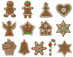 gingerbread cookies 3D
