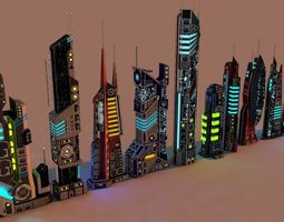 SCI FI FUTURISTIC CITY Package 3D model