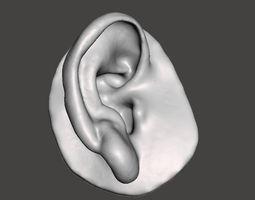 Human natural ear right side 3D print model
