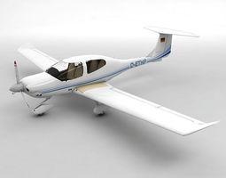 3D model Diamond DA-40 Aircraft