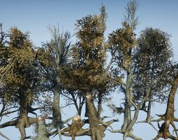 Dead Tree Collection ALL IN ONE 3D model