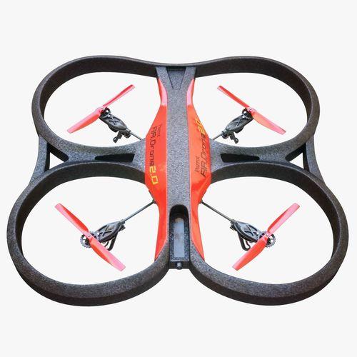 parrot drone 3d model max obj mtl lwo lw lws 1