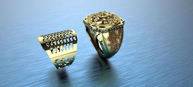 266c15abff Medusa Signet Ring | 3D Print Model