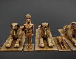 3D asset EgyptianStatues