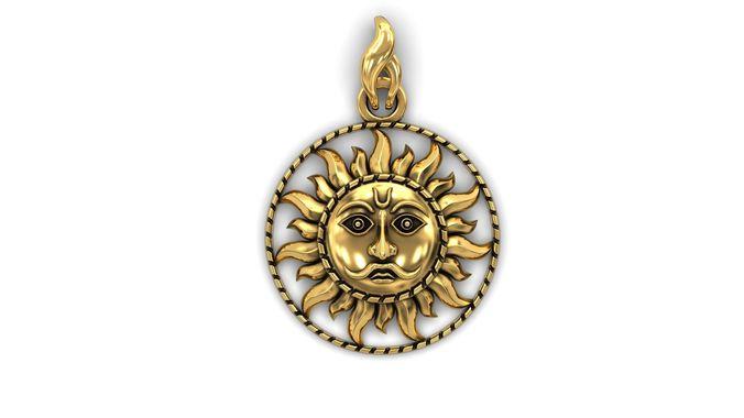 the sun pendant 3d model stl 3dm 1