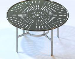 La Stratta Aluminum Dining Table by Tropitone 3D model