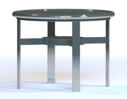 La Stratta Aluminum Coffee Table by Tropitone 3D