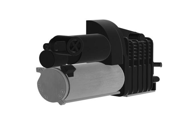airmatic suspension compressor  mercedes 3d model obj mtl 1