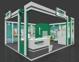 Exhibition stall 3d model 6x5 mtr 2sides open Ramdoot