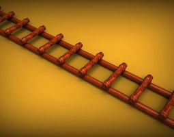 3d model farm stairs bamboo