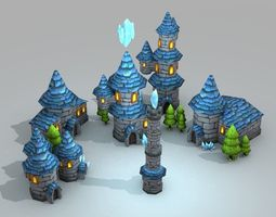 Wizard Tower Pack 3D asset