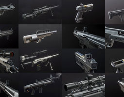 first-person weapon pack 3d