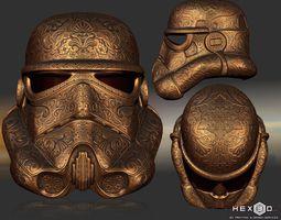 Deluxe Carved Trooper Helmet 3D printable model