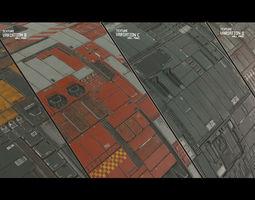 3D Scifi Wall Panel Texture Set E