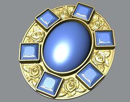 oval pendant 3D print model five