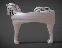 Ornament horse for Chair legs 3D printable model
