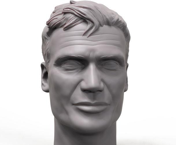 dolf lundgren 3d printable portrait sculpture 3d model obj mtl stl 1