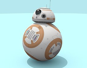 BB-8 droid Star Wars Detailed 3D