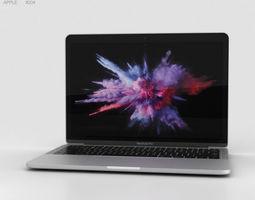 Apple MacBook Pro 13 inch 2016 Silver silver 3D model