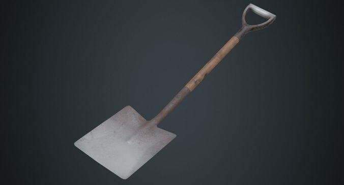 spade 1b 3d model low-poly obj mtl fbx blend 1